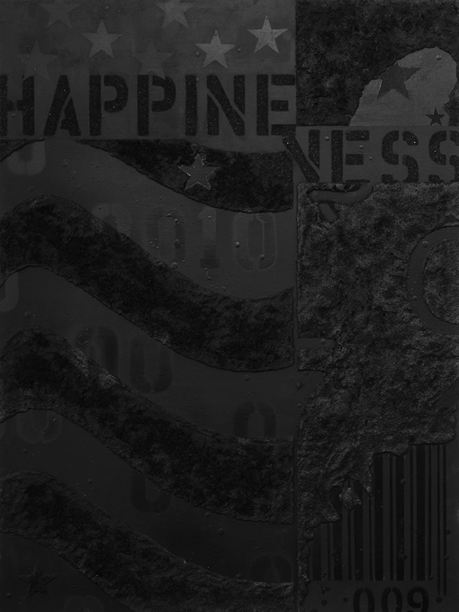 "Happiness, 30""x40"", acrylic on wood panel, 2013."